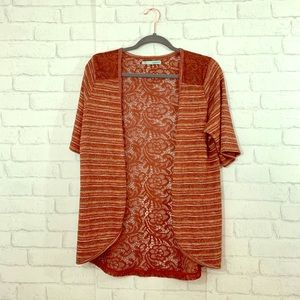 Maurices orange striped and lace size XL!